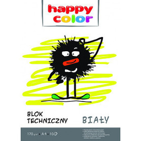 Happy Color Blok techniczny Biały A4/10K 1szt.