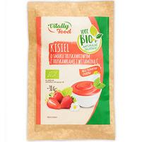 VITALLY FOOD Kisiel o smaku truskawkowym z truskawkami i witaminą C BIO 38g