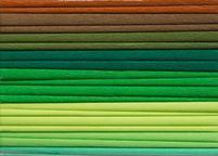 Bibuła marszczona, 25x200 cm, 10 rolek, miks 8 kolorów zielonych, Happy Color