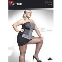 ADRIAN Kiara Size++ Rajstopy z dodatkowym klinem 20 den NERO 6