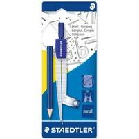 Staedtler Cyrkiel szkolny metalowy z adapterem + ołówek 1szt.