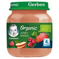 Gerber Organic Jabłko malina po 4 miesiącu 125g