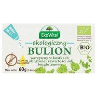 EkoWital Ekologiczny bulion warzywny w kostkach o obniżonej zawartości soli 60g (6 sztuk)
