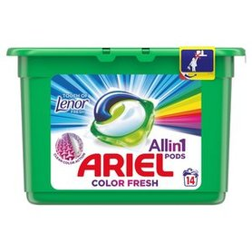 Ariel Allin1 Pods Touch of Lenor Fresh Color Kapsułki do prania 400g (14 prań)