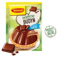 Winiary Budyń bez dodatku cukru smak czekoladowy 38g