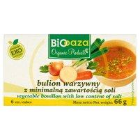 Biooaza Eko Bulion warzywny z minimalną zawartością soli 66g (6 sztuk)