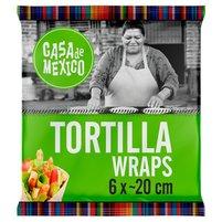 Casa de Mexico Placek pszenny tortilla 20 cm 240g (6szt)