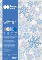 Blok Deco Winter 170 g/m2, A4, 20 ark., 5 kolorów, Happy Color