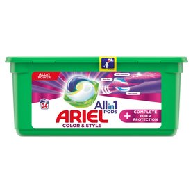 Ariel Allin1 Pods +Complete Fiber Protection Kapsułki do prania 650g (24 prań)