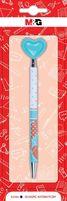 Długopis automatyczny Serce 2, 0.5mm, niebieski, blister, MG