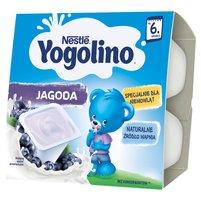 Nestlé Yogolino Deserek mleczno-owocowy jagoda dla niemowląt po 6. miesiącu 400g (4x100g)