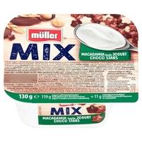 MÜLLER Mix Jogurt o smaku orzechów makadamia z gwiazdkami zbożowymi w czekoladzie 130g