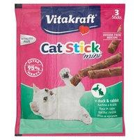 Vitakraft Cat Stick Mini Kaczka i królik Karma uzupełniająca dla kotów 18g (3x6g)