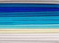 Bibuła marszczona, 25x200 cm, 10 rolek, miks 8 kolorów niebieskich, Happy Color