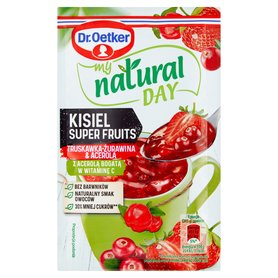 Dr. Oetker My Natural Day Kisiel Super Fruits truskawka-żurawina & acerola 28g