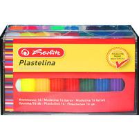 Herlitz Plastelina 16 kolorów w kasetce 1op.