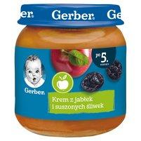 Gerber Krem z jabłek i suszonych śliwek dla niemowląt po 5. miesiącu 125g