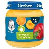 Gerber Jabłuszka z morelami dla niemowląt po 4. miesiącu 125g