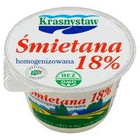 Krasnystaw Śmietana 18% homogenizowana 150g