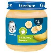 Gerber Delikatny banan dla niemowląt po 4. miesiącu 125g