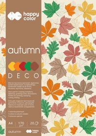 Blok Deco Autumn 170 g/m2, A4, 20 ark., 5 kolorów, Happy Color