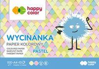 Blok Wycinanka Pastel, A4, 10 ark, 100 g, Happy Color