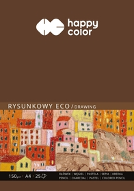 Blok rysunkowy ECO, Art., A4, 25 ark, 150g, Happy Color