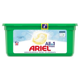 Ariel Allin1 Pods Sensitive Kapsułki do prania 700g (26 prań)