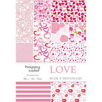 Happy Color Blok A4/15K z motywami Love 1szt.