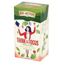 Big-Active Think & Focus Herbata zielona miłorząb japoński z orzeszkami kola 30g (20 tb)