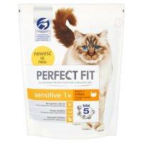 Perfect Fit Sensitive 1+ Karma pełnoporcjowa dla dorosłych kotów 750g