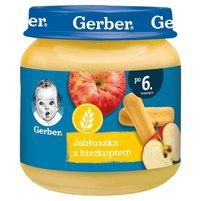 Gerber Jabłuszka z biszkoptem dla niemowląt po 6. miesiącu 125g