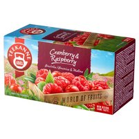 Teekanne World of Fruits Cranberry & Raspberry Aromatyzowana mieszanka herbatek 45g (20 tb)