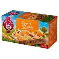 Teekanne World of Fruits Ginger & Orange Aromatyzowana mieszanka herbatek 45g (20 tb)