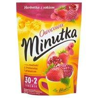 Minutka Owocowa o smaku malinki z truskawką i granatem Herbatka z sokiem 64g (32 tb)