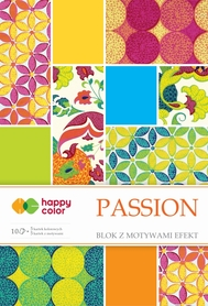 Blok effect PASSION, 20x29cm, 170-220g/m2, 10 ark, 5 motyw., Happy Color