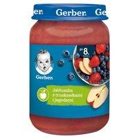 Gerber Jabłuszka z truskawkami i jagodami dla niemowląt po 8. miesiącu 190g