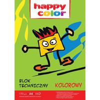Happy Color Blok techniczny kolorowy A4/10K 170g 1szt.
