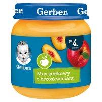 Gerber Mus jabłkowy z brzoskwiniami dla niemowląt po 4. miesiącu 125g