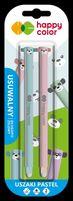 Długopis usuwalny Uszaki Pastel, 0.5mm, niebieski, 2 szt. na blistrze,  Happy Color