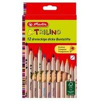 Herlitz Trilino Kredki ołówkowe 12 kolorów 1op.