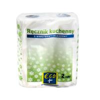 ECO+  Ręcznik kuchenny dwuwarstwowy, celulozowy 2 rolki