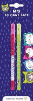 Ołówek So Many Cats, z 11 wymiennymi rysikami, 2szt blister, MG