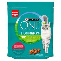 PURINA ONE Dual Nature Spirulina Karma dla dorosłych kotów wołowina jako pierwszy składnik 750g