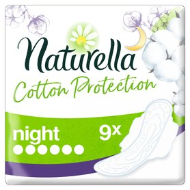 Naturella Cotton Protection Ultra Night Podpaski ze skrzydełkami 9szt