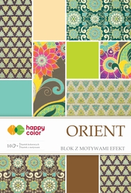 Blok effect ORIENT, 20x29cm, 170-220g/m2, 10 ark, 5 motyw., Happy Color