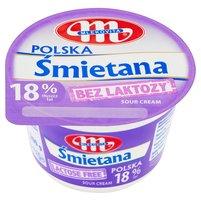 Mlekovita Śmietana Polska bez laktozy 18% 200g