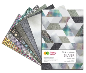 Blok SILVER, A4, 150-230g, 10 ark, Happy Color