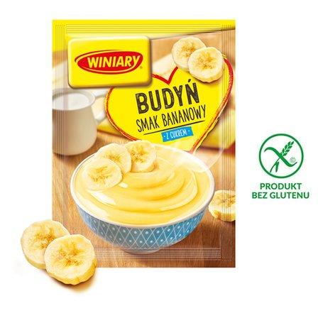 Winiary Budyń z cukrem smak bananowy 60g (1)