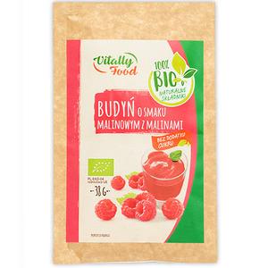 VITALLY FOOD Budyń o smaku malinowym z malinami BIO 38g  (1)